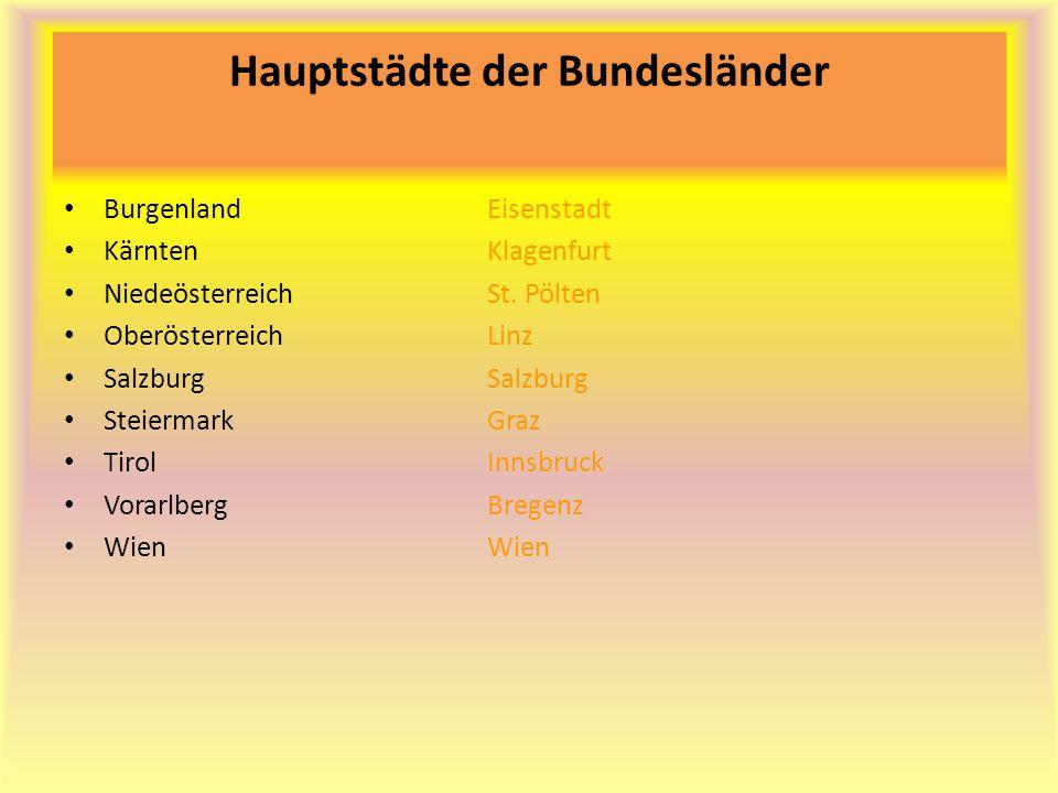 Hauptstädte der Bundesländer
