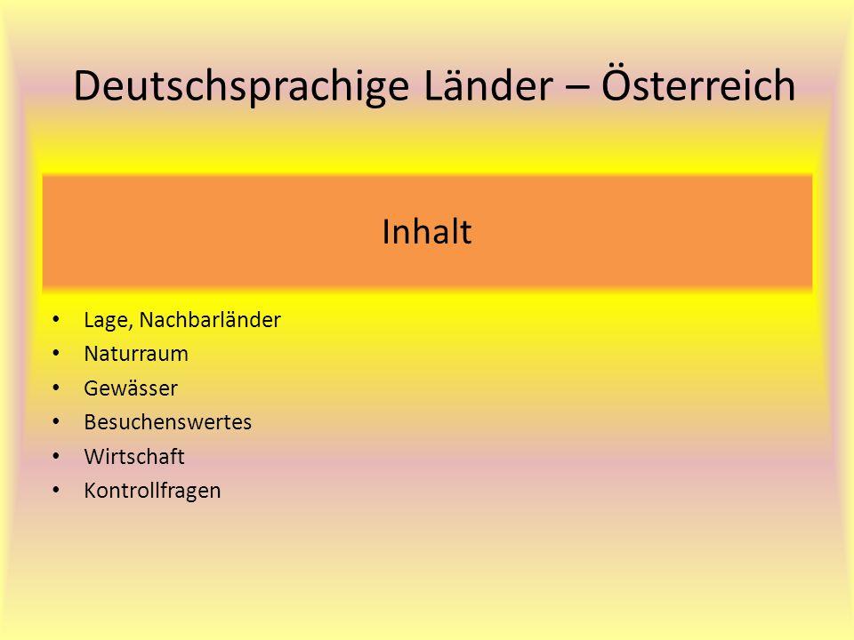 Deutschsprachige Länder – Österreich