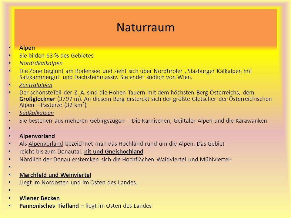 Naturraum Alpen Sie bilden 63 % des Gebietes Nordrdkalkalpen