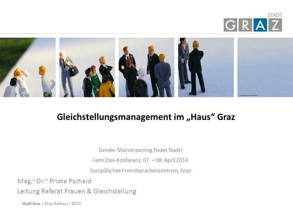 """Gleichstellungsmanagement im """"Haus Graz"""