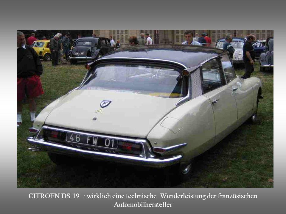 CITROEN DS 19 : wirklich eine technische Wunderleistung der französischen Automobilhersteller