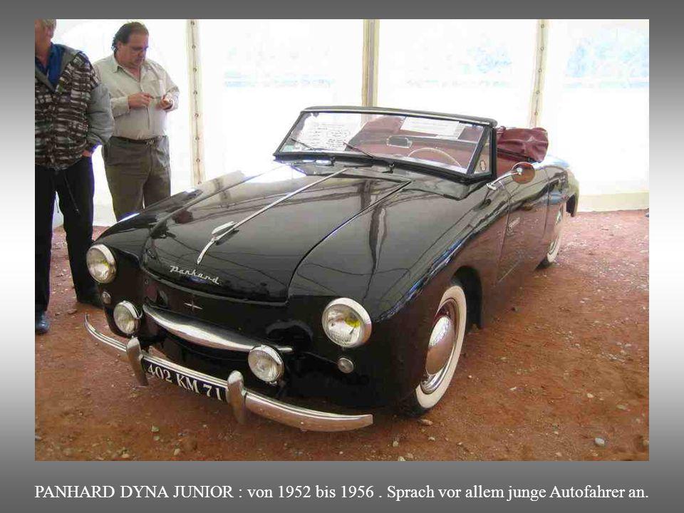 PANHARD DYNA JUNIOR : von 1952 bis 1956