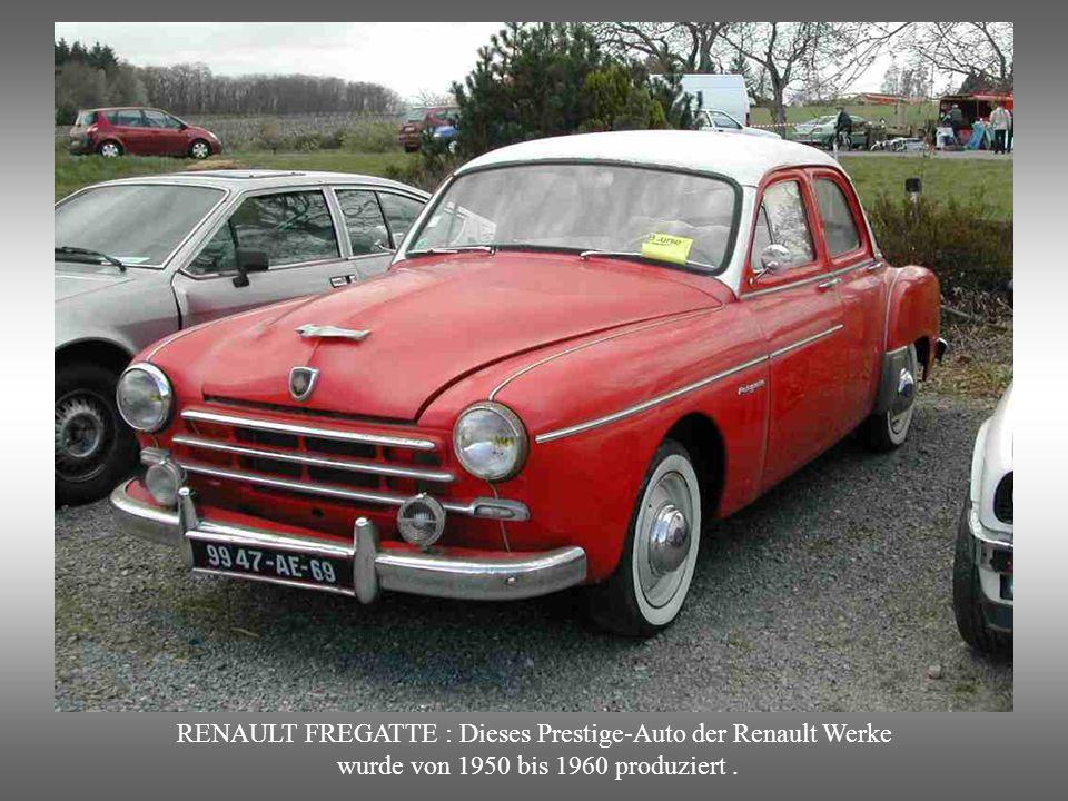 RENAULT FREGATTE : Dieses Prestige-Auto der Renault Werke