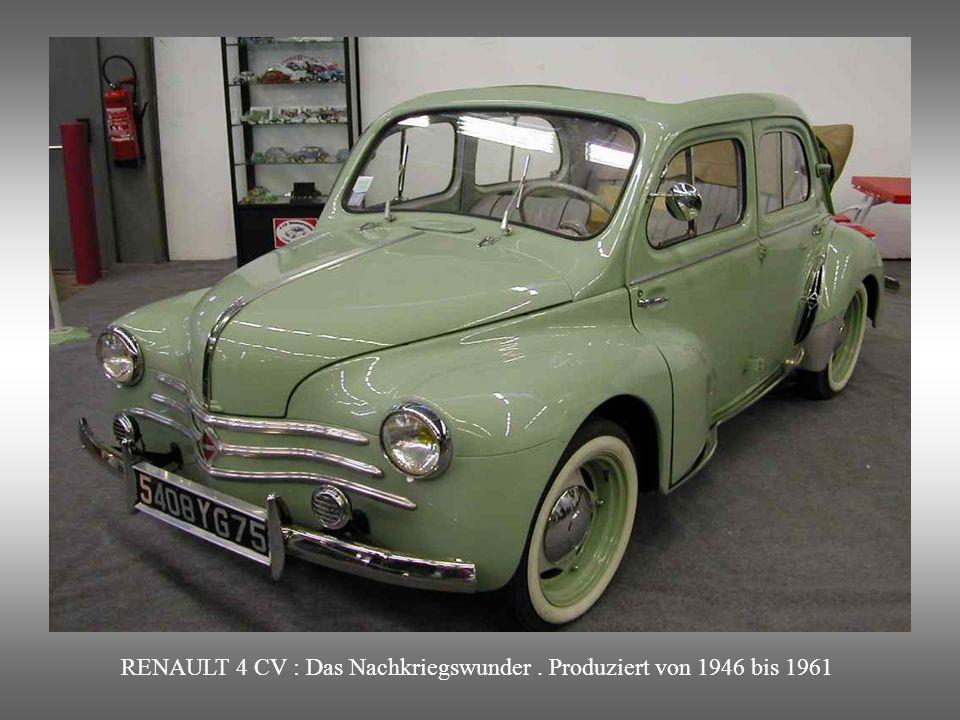 RENAULT 4 CV : Das Nachkriegswunder . Produziert von 1946 bis 1961
