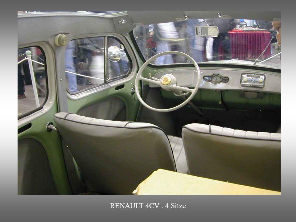 RENAULT 4CV : 4 Sitze
