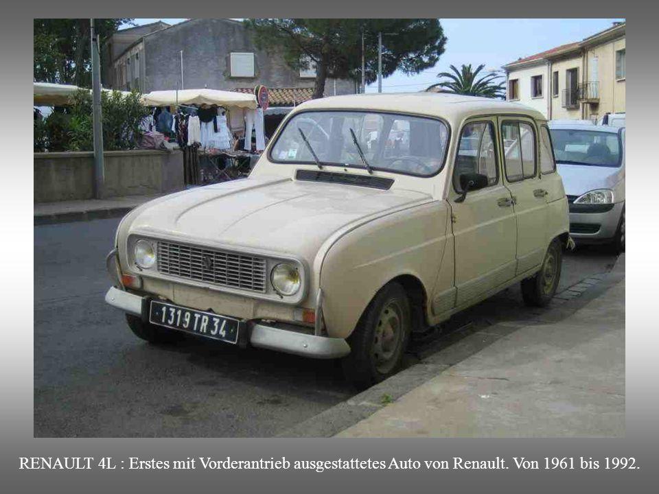 RENAULT 4L : Erstes mit Vorderantrieb ausgestattetes Auto von Renault
