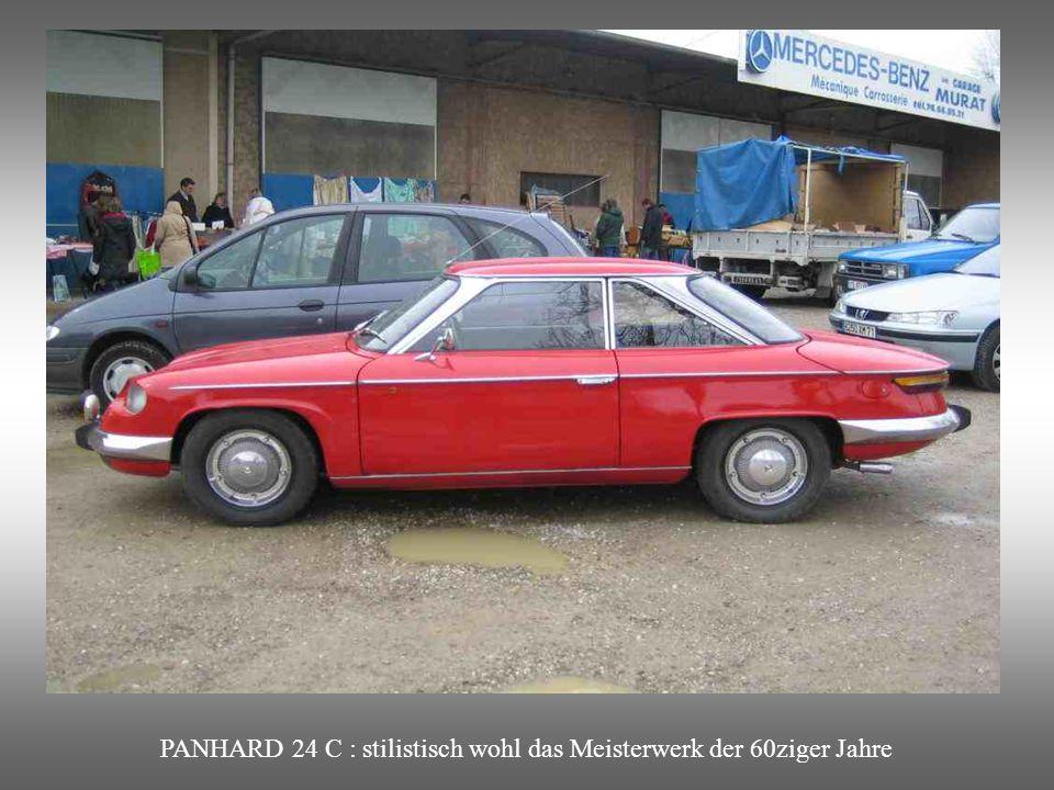 PANHARD 24 C : stilistisch wohl das Meisterwerk der 60ziger Jahre