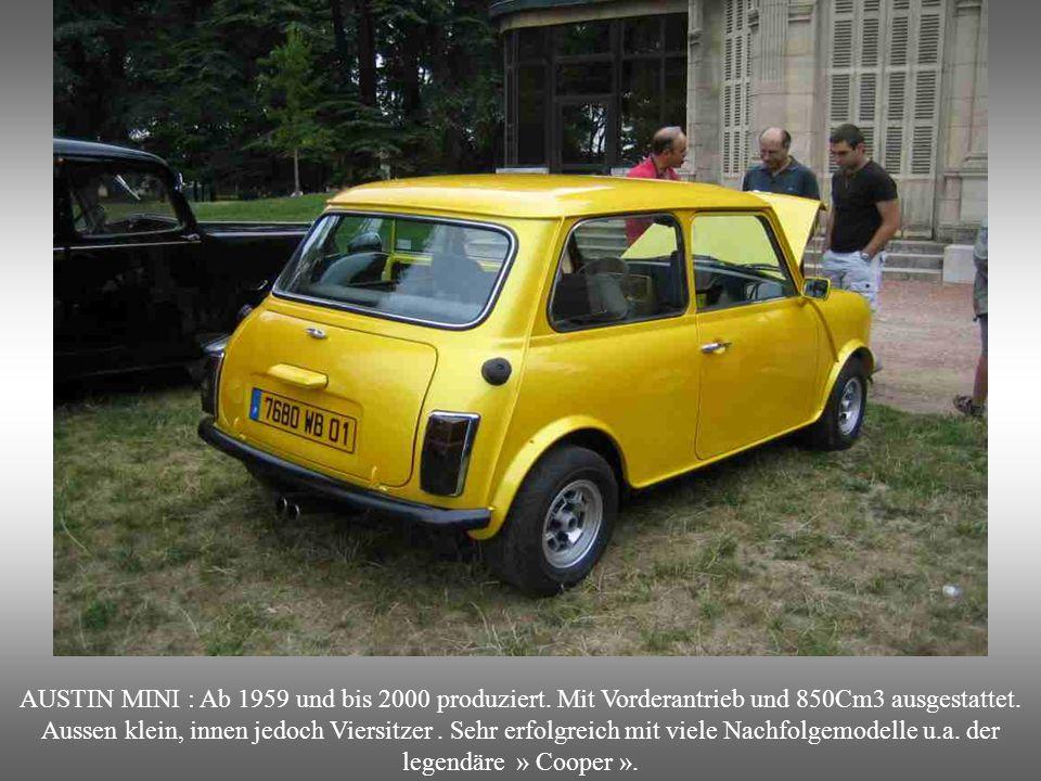AUSTIN MINI : Ab 1959 und bis 2000 produziert