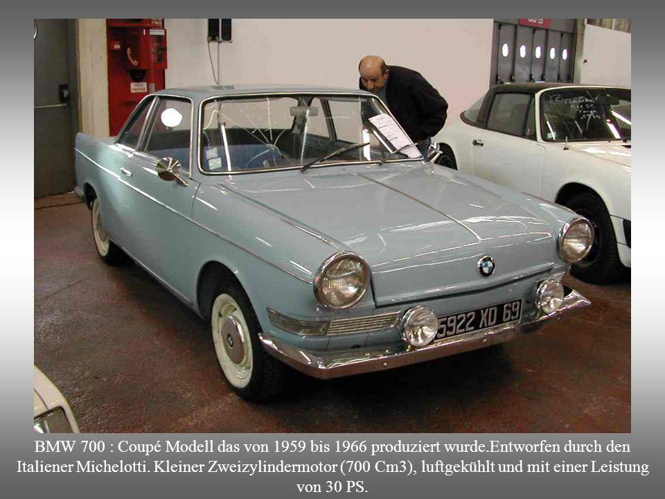 BMW 700 : Coupé Modell das von 1959 bis 1966 produziert wurde