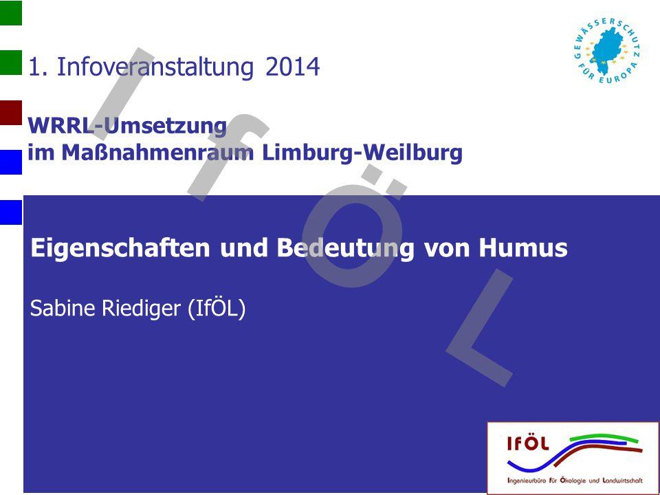 Eigenschaften und Bedeutung von Humus Sabine Riediger (IfÖL)