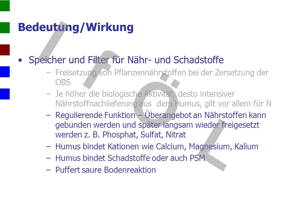 I f Ö L Bedeutung/Wirkung