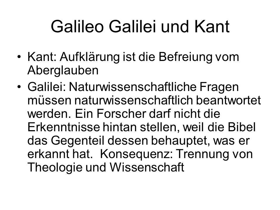 Galileo Galilei und Kant