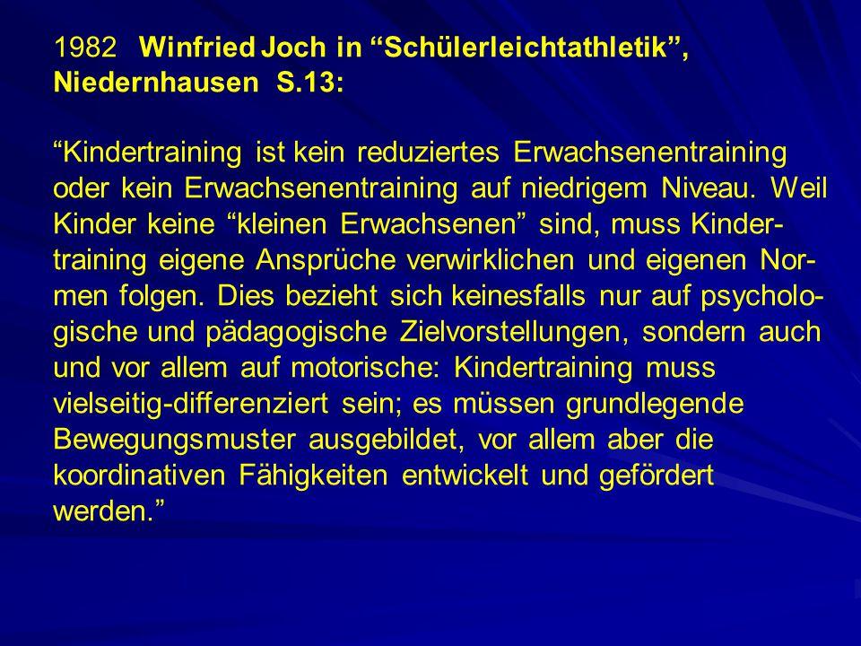 1982 Winfried Joch in Schülerleichtathletik , Niedernhausen S.13: