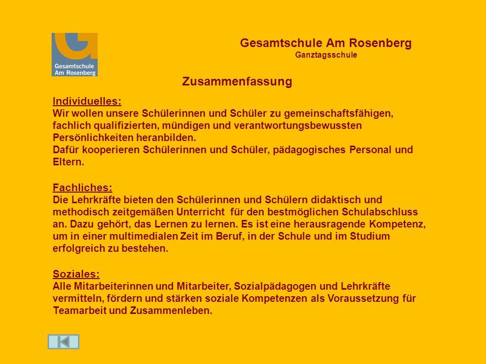 Gesamtschule Am Rosenberg Ganztagsschule