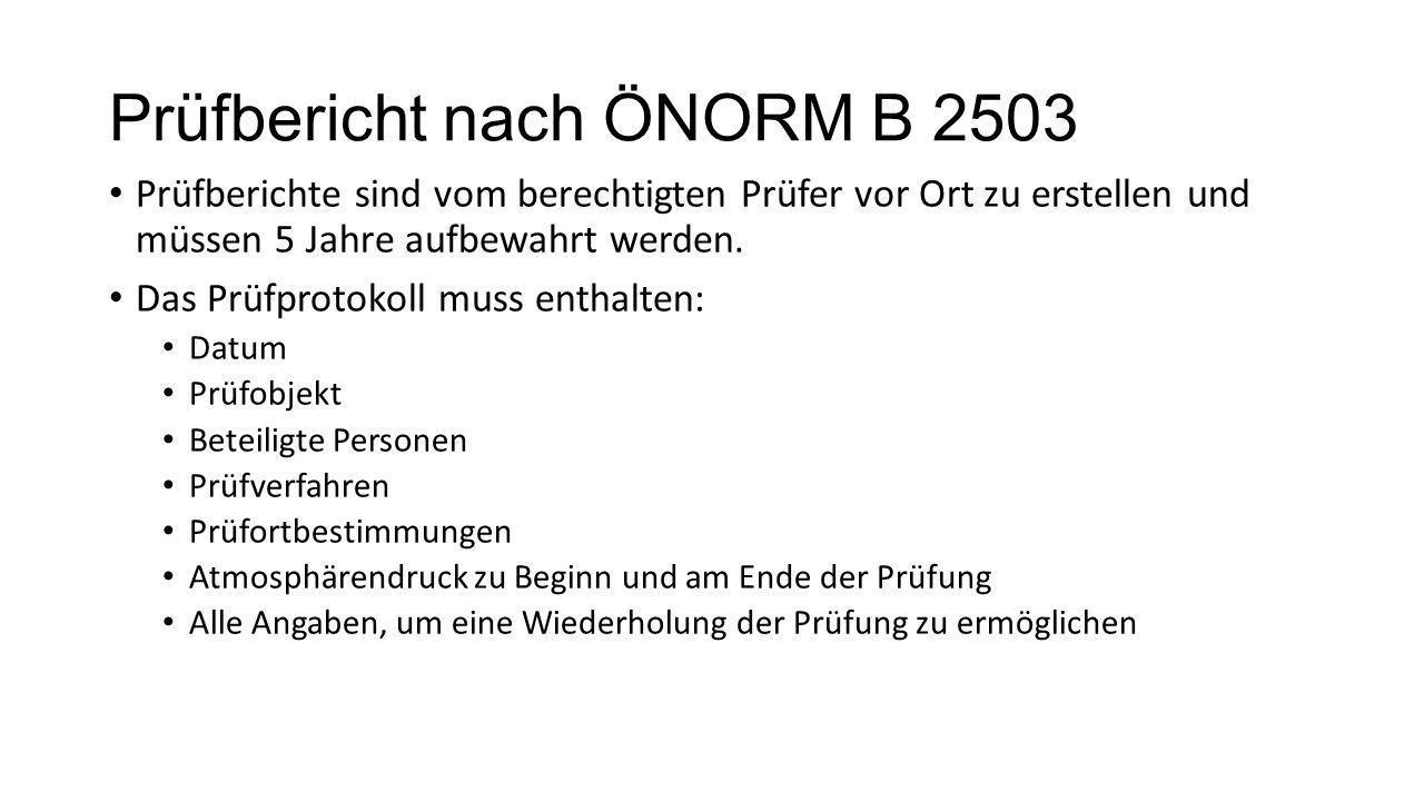 Prüfbericht nach ÖNORM B 2503