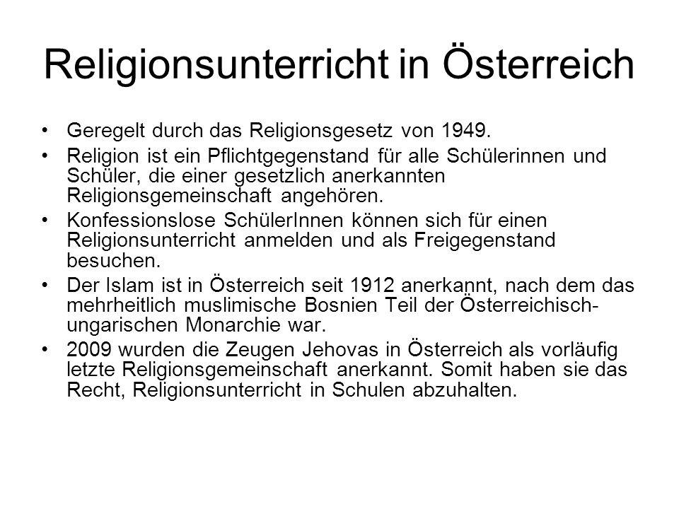 Religionsunterricht in Österreich