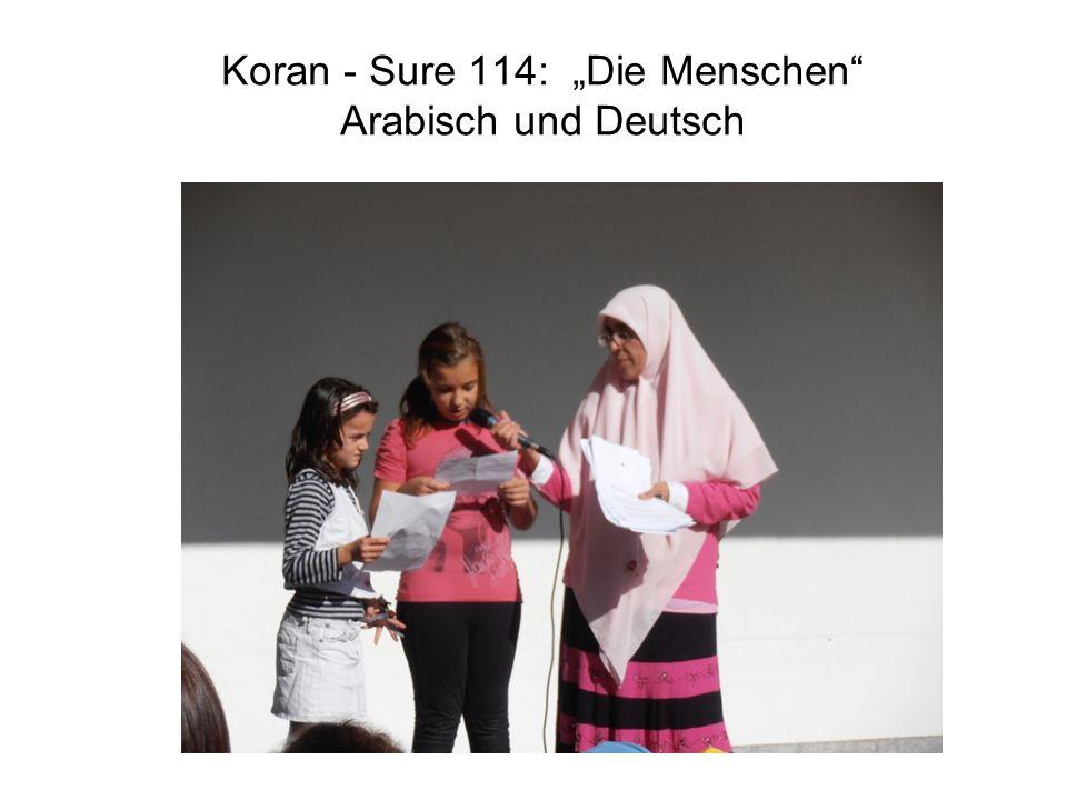 """Koran - Sure 114: """"Die Menschen Arabisch und Deutsch"""