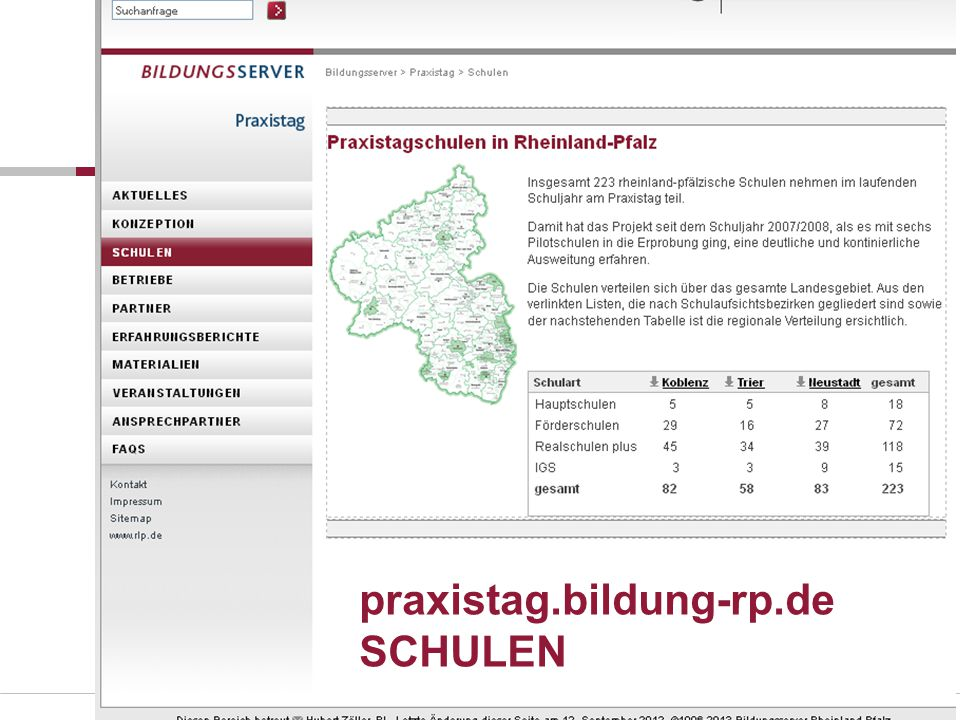 praxistag.bildung-rp.de SCHULEN