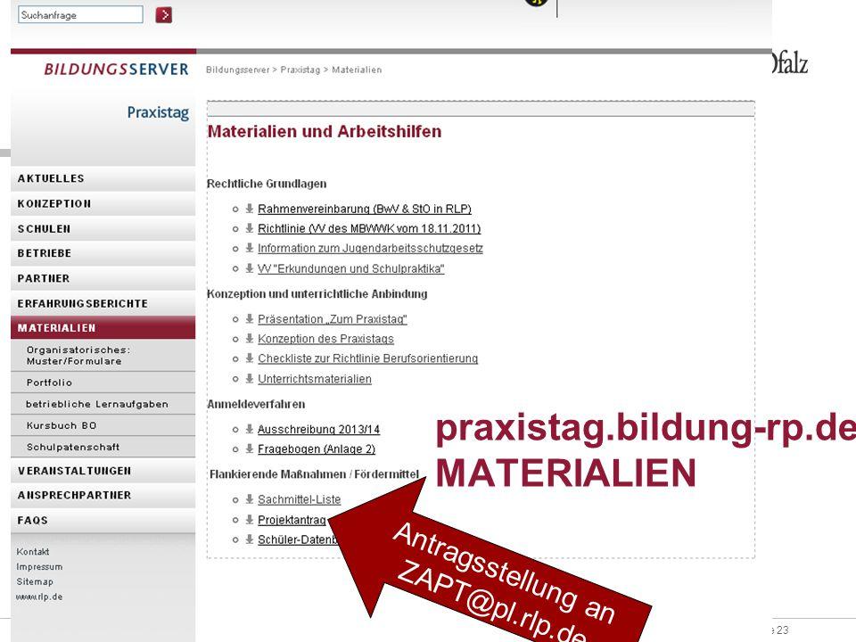 praxistag.bildung-rp.de MATERIALIEN
