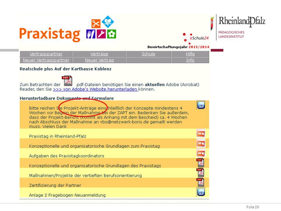 Download Im Portal können die Verantwortlichen eingetragen werden (Schule) PPPs oder Unterlagen stehen zum Download zur Verfügung.