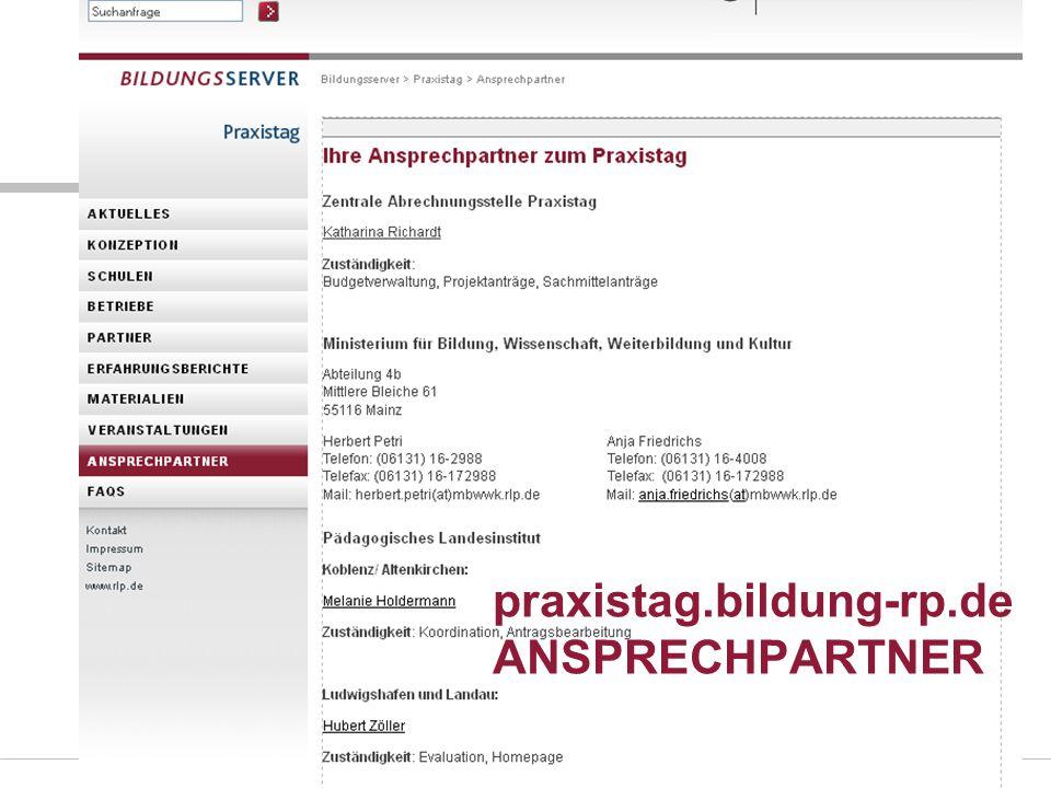 praxistag.bildung-rp.de ANSPRECHPARTNER