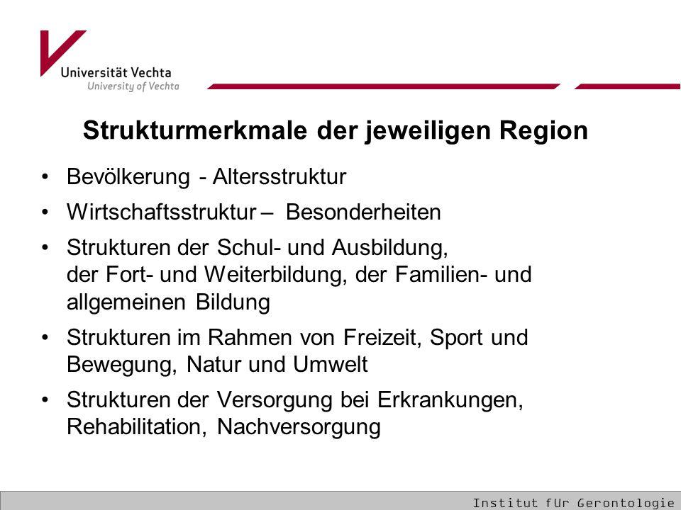 Strukturmerkmale der jeweiligen Region