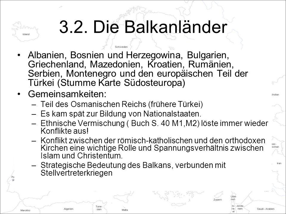3.2. Die Balkanländer