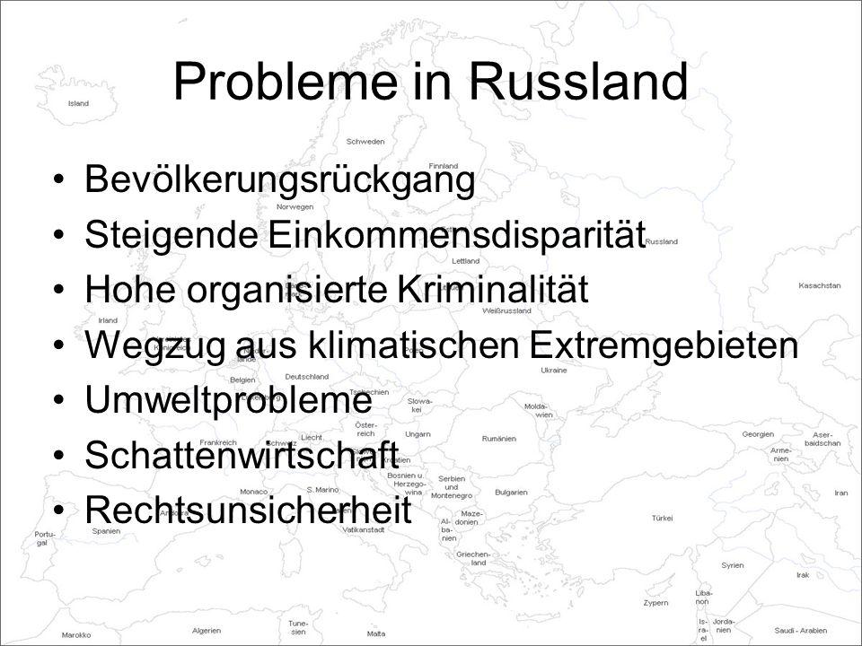 Probleme in Russland Bevölkerungsrückgang