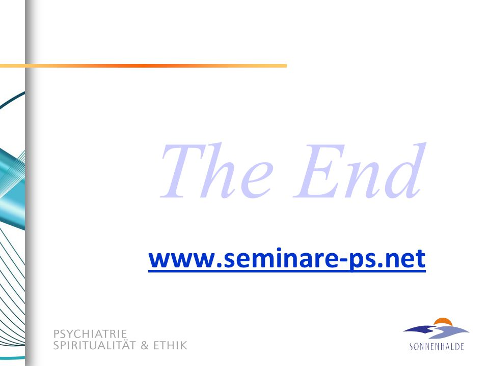 The End www.seminare-ps.net