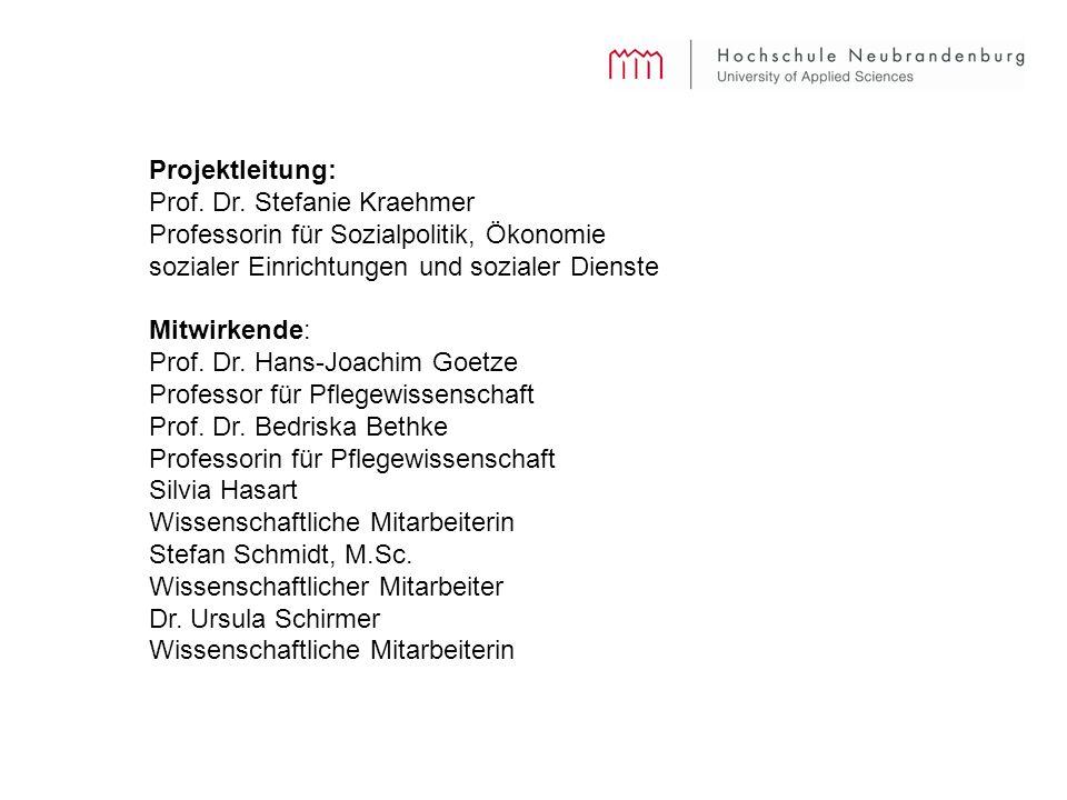 Projektleitung: Prof. Dr. Stefanie Kraehmer. Professorin für Sozialpolitik, Ökonomie sozialer Einrichtungen und sozialer Dienste.