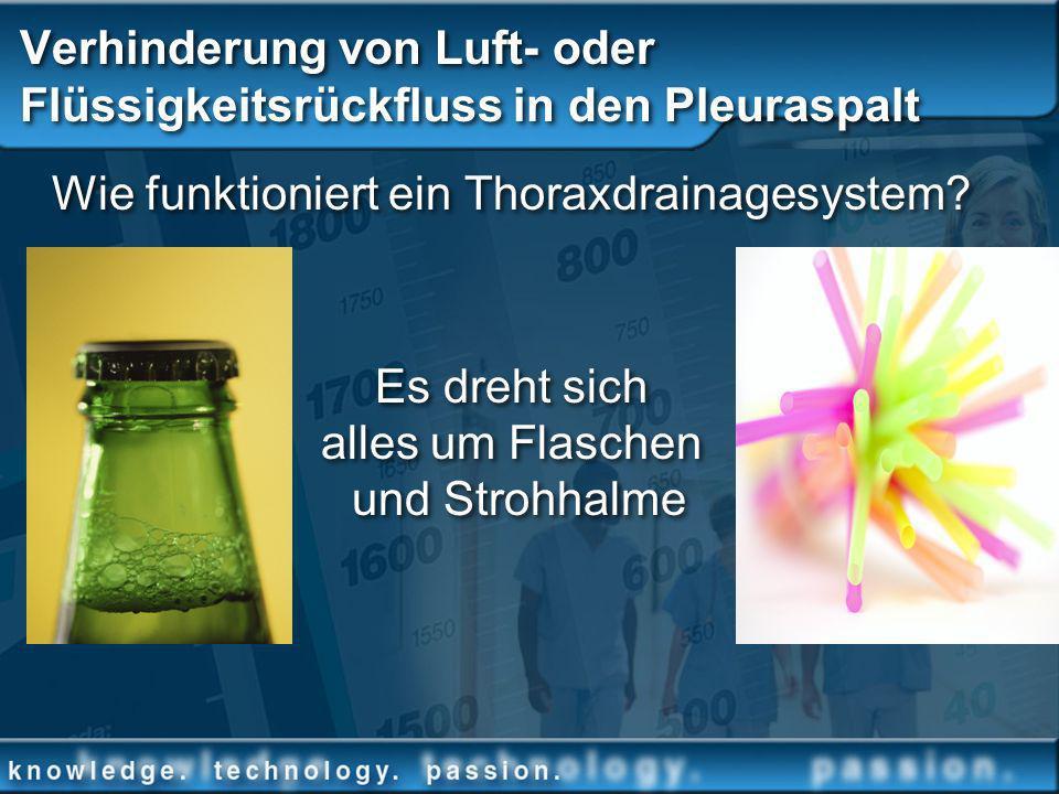 Verhinderung von Luft- oder Flüssigkeitsrückfluss in den Pleuraspalt