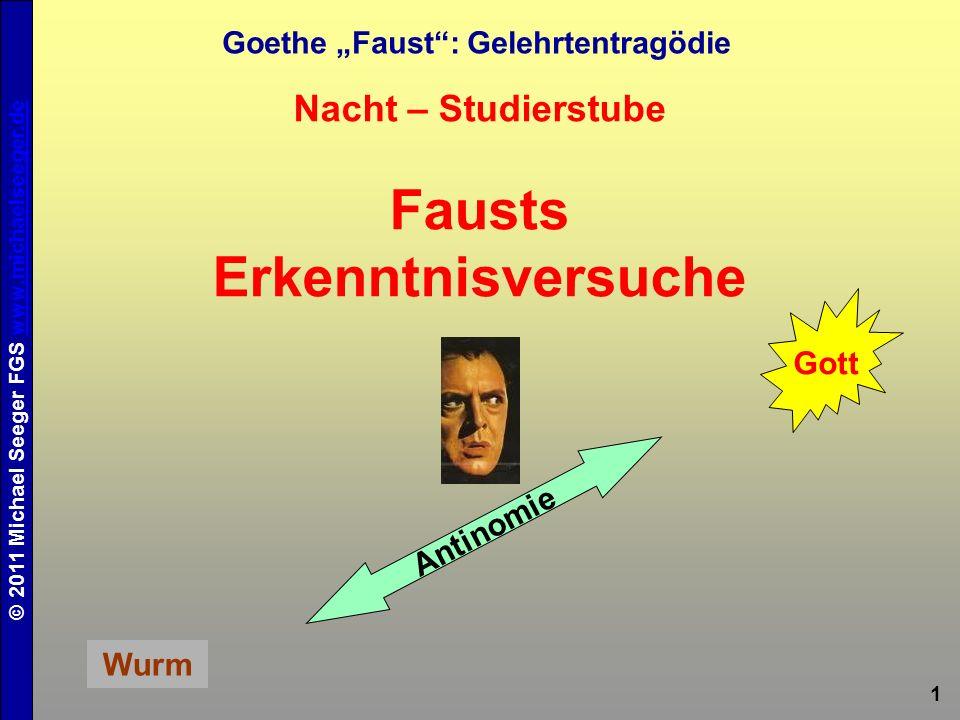 """Goethe """"Faust : Gelehrtentragödie Fausts Erkenntnisversuche"""