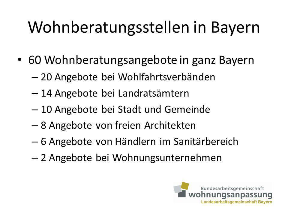 Wohnberatungsstellen in Bayern