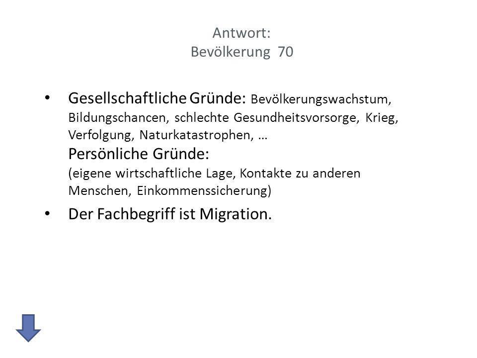 Der Fachbegriff ist Migration.
