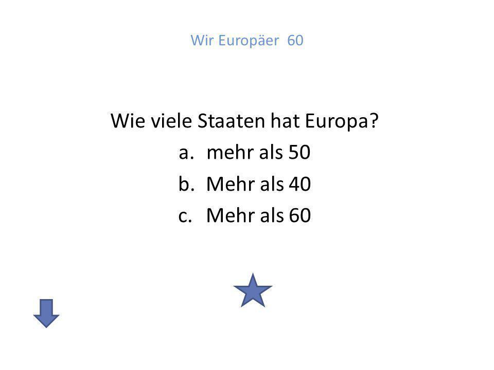 Wie viele Staaten hat Europa