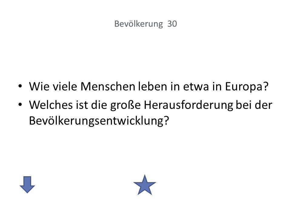 Wie viele Menschen leben in etwa in Europa