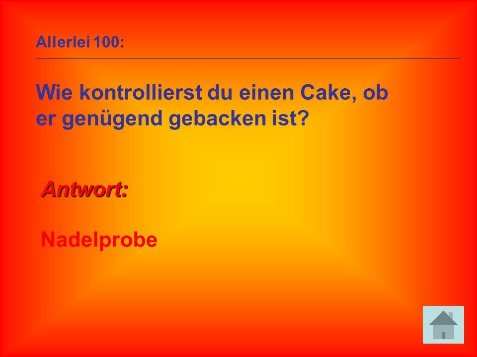 Wie kontrollierst du einen Cake, ob er genügend gebacken ist