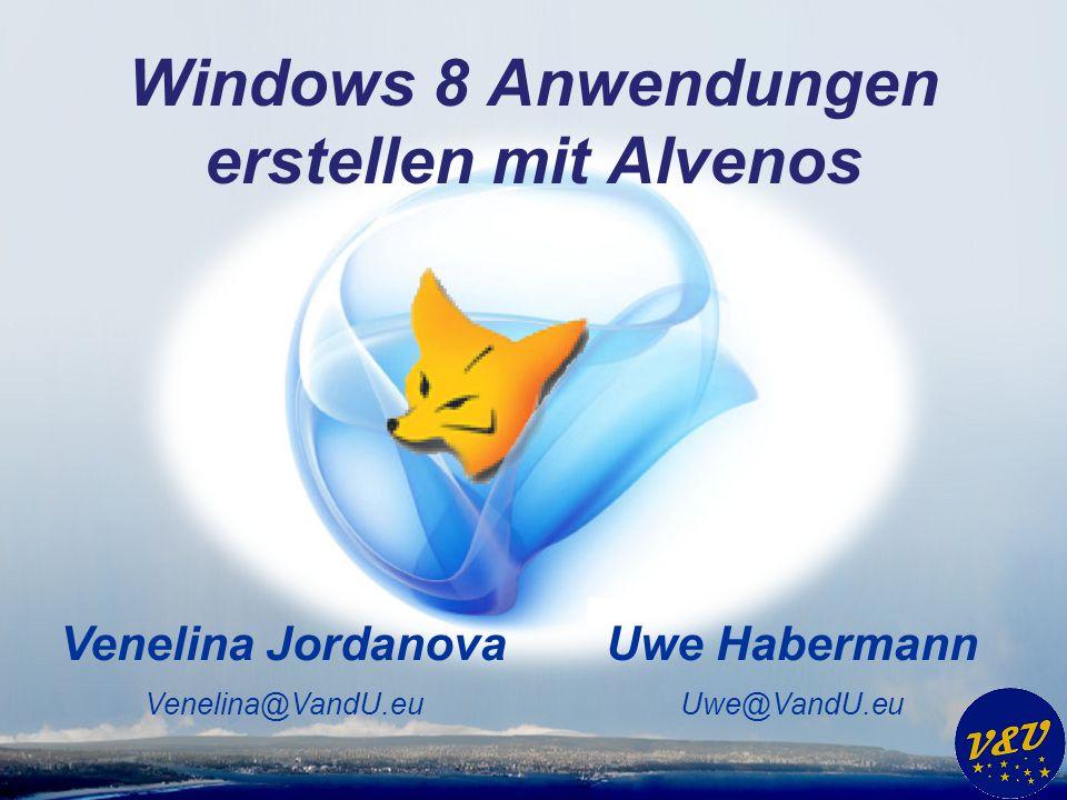 Windows 8 Anwendungen erstellen mit Alvenos