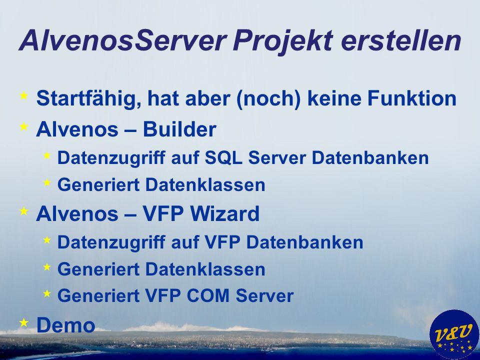 AlvenosServer Projekt erstellen