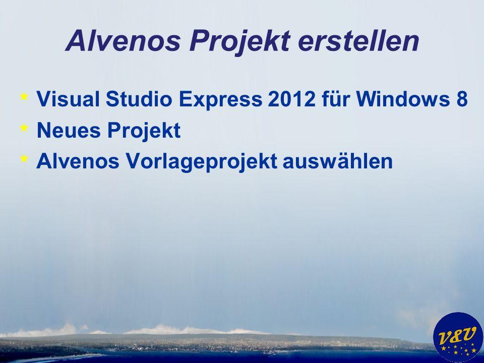 Alvenos Projekt erstellen