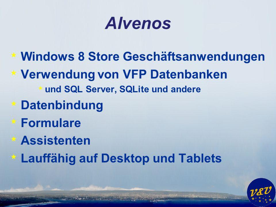 Alvenos Windows 8 Store Geschäftsanwendungen