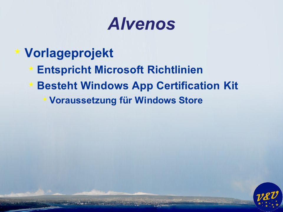 Alvenos Vorlageprojekt Entspricht Microsoft Richtlinien