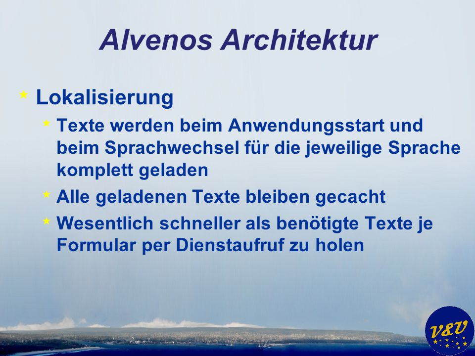 Alvenos Architektur Lokalisierung