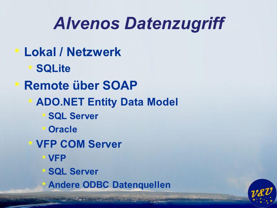 Alvenos Datenzugriff Lokal / Netzwerk Remote über SOAP SQLite