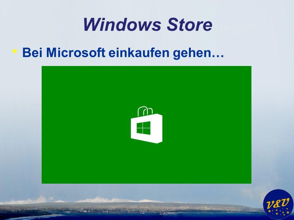 Windows Store Bei Microsoft einkaufen gehen…