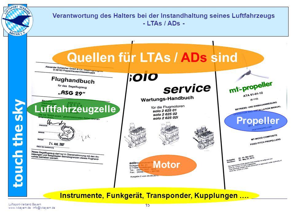 Quellen für LTAs / ADs sind