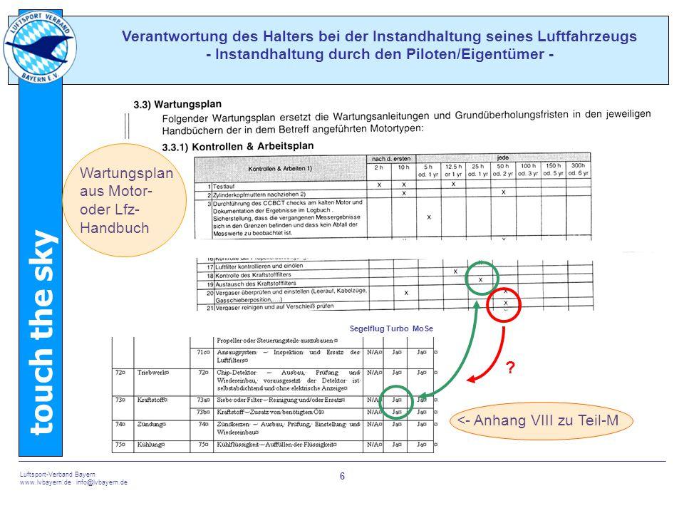 Verantwortung des Halters bei der Instandhaltung seines Luftfahrzeugs - Instandhaltung durch den Piloten/Eigentümer -