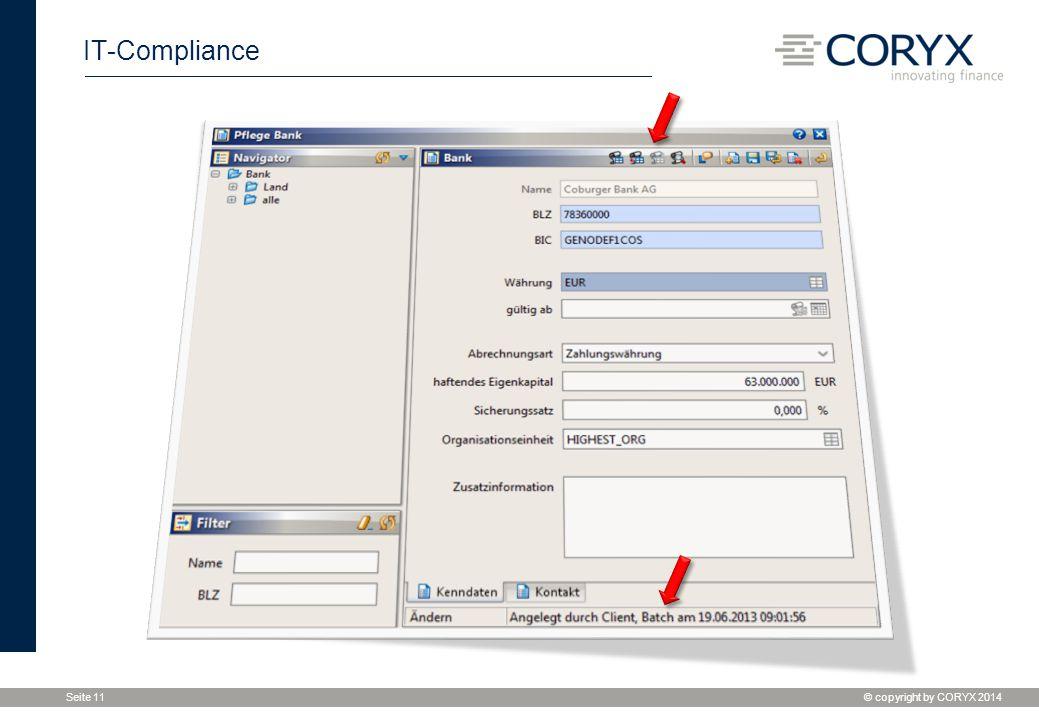 IT-Compliance Wenn die Berechtigungen für die Historisierung vergeben wurde... Durchklicken mit Liveview, Info in der Statuszeile.
