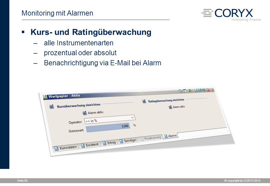 Monitoring mit Alarmen