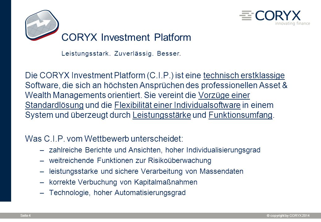 CORYX Investment Platform